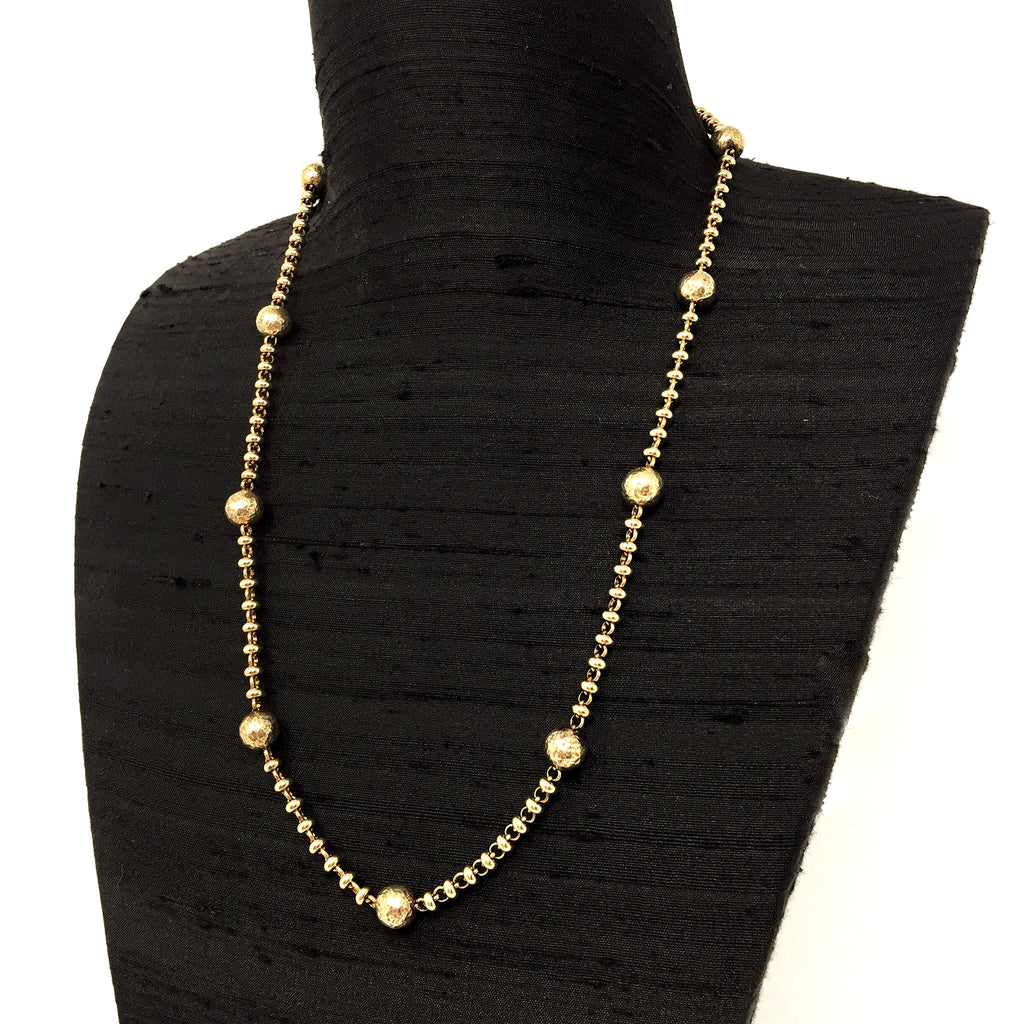 Bubbles Necklace (A-B Antique Gold)