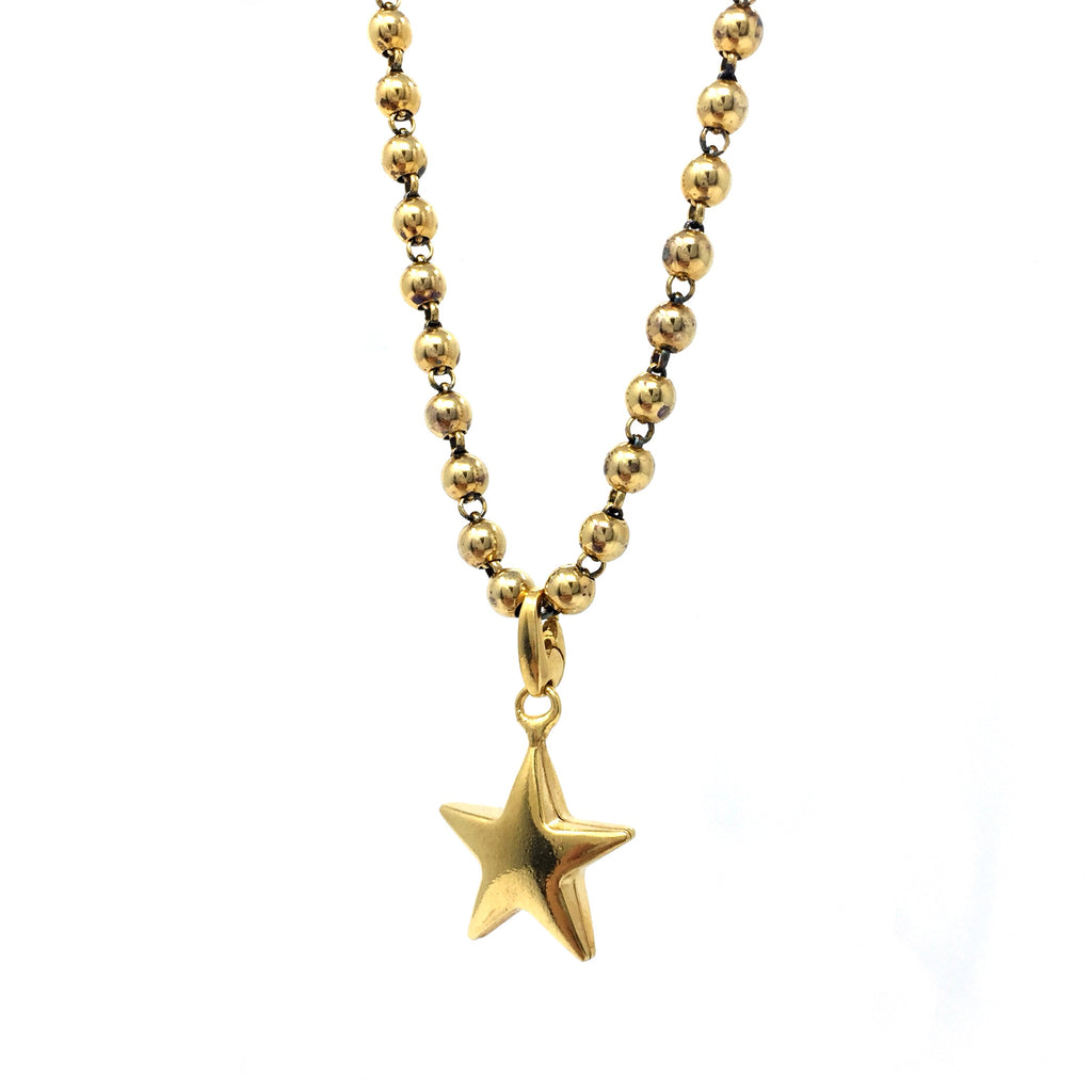 Bright Like a Star Charm (Antique Gold)
