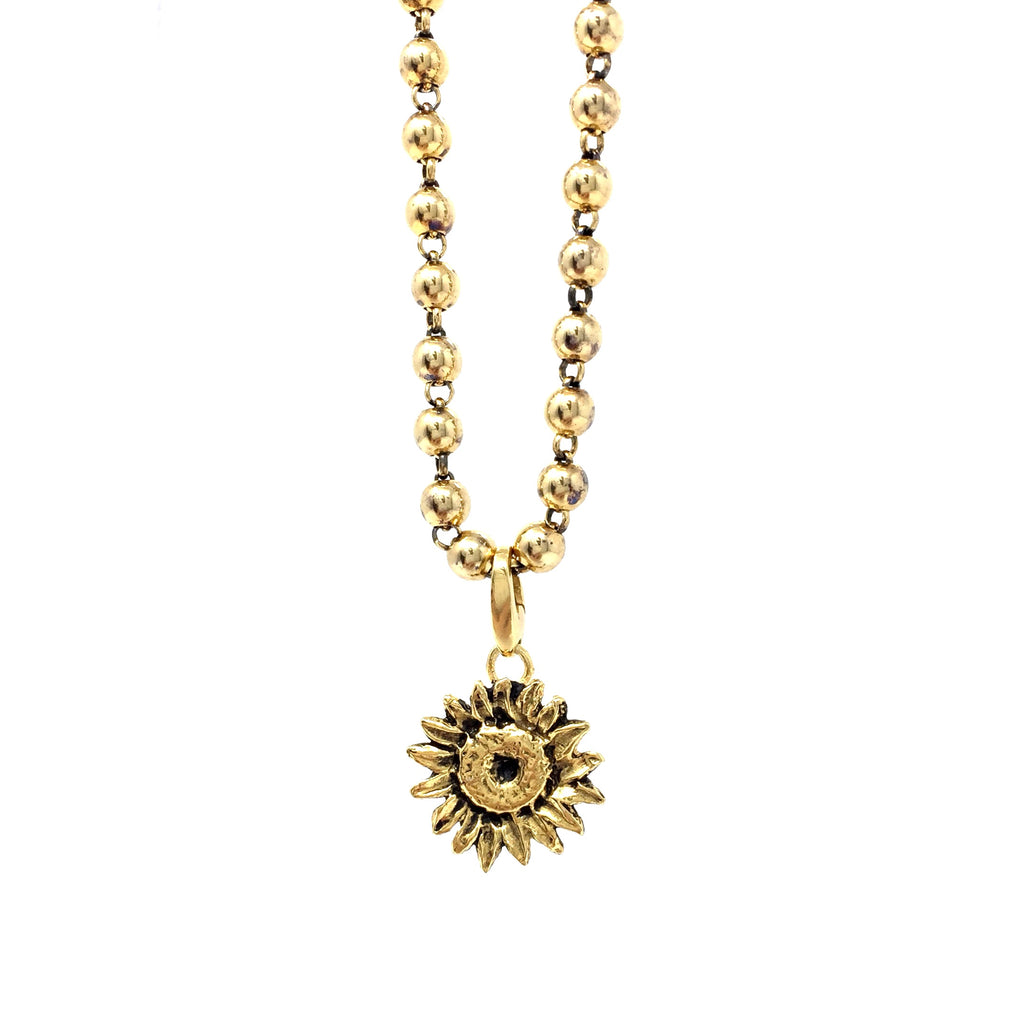 Sunflower Charm in Gold