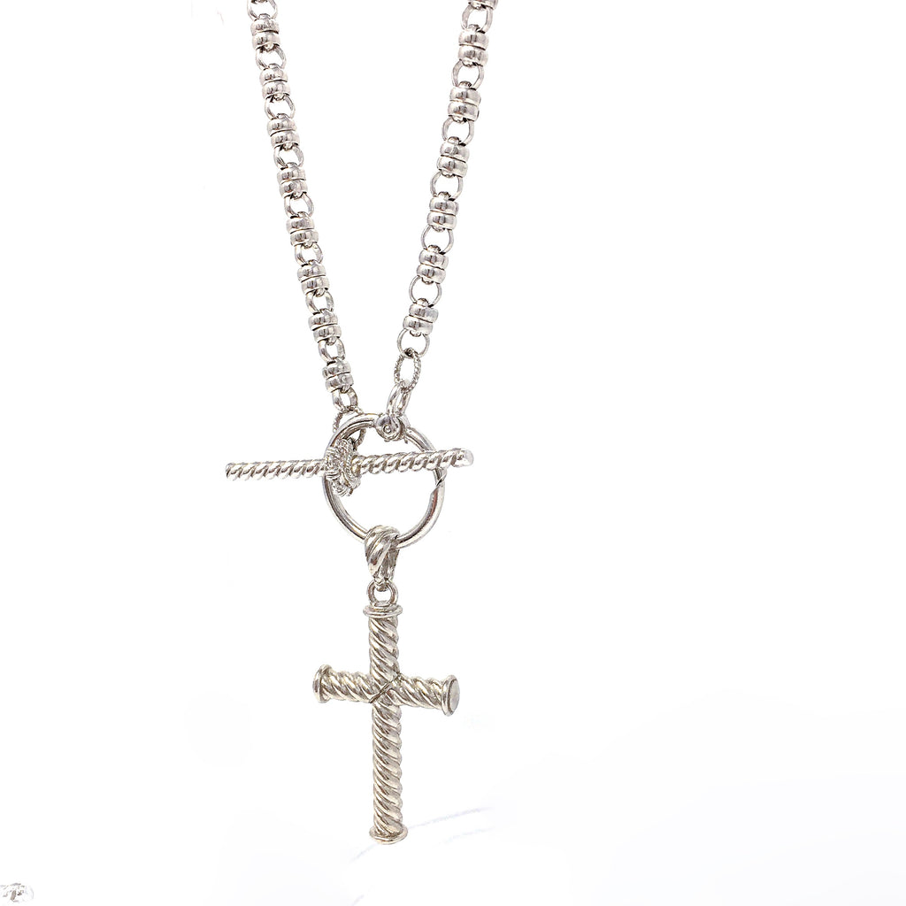 Lonestar Cross Pendant (Rhodium)