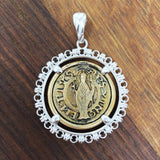 Filary Cortona Coin Pendant (Rhodium)