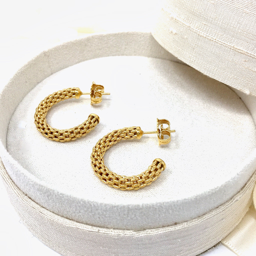 Empress Constantina Hoops Small Earrings (Yellow Gold)