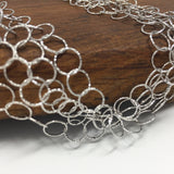 """Double It Up"" Giotto Necklace (Rhodium)"