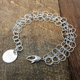 Triple Giotto Bracelet (Rhodium)
