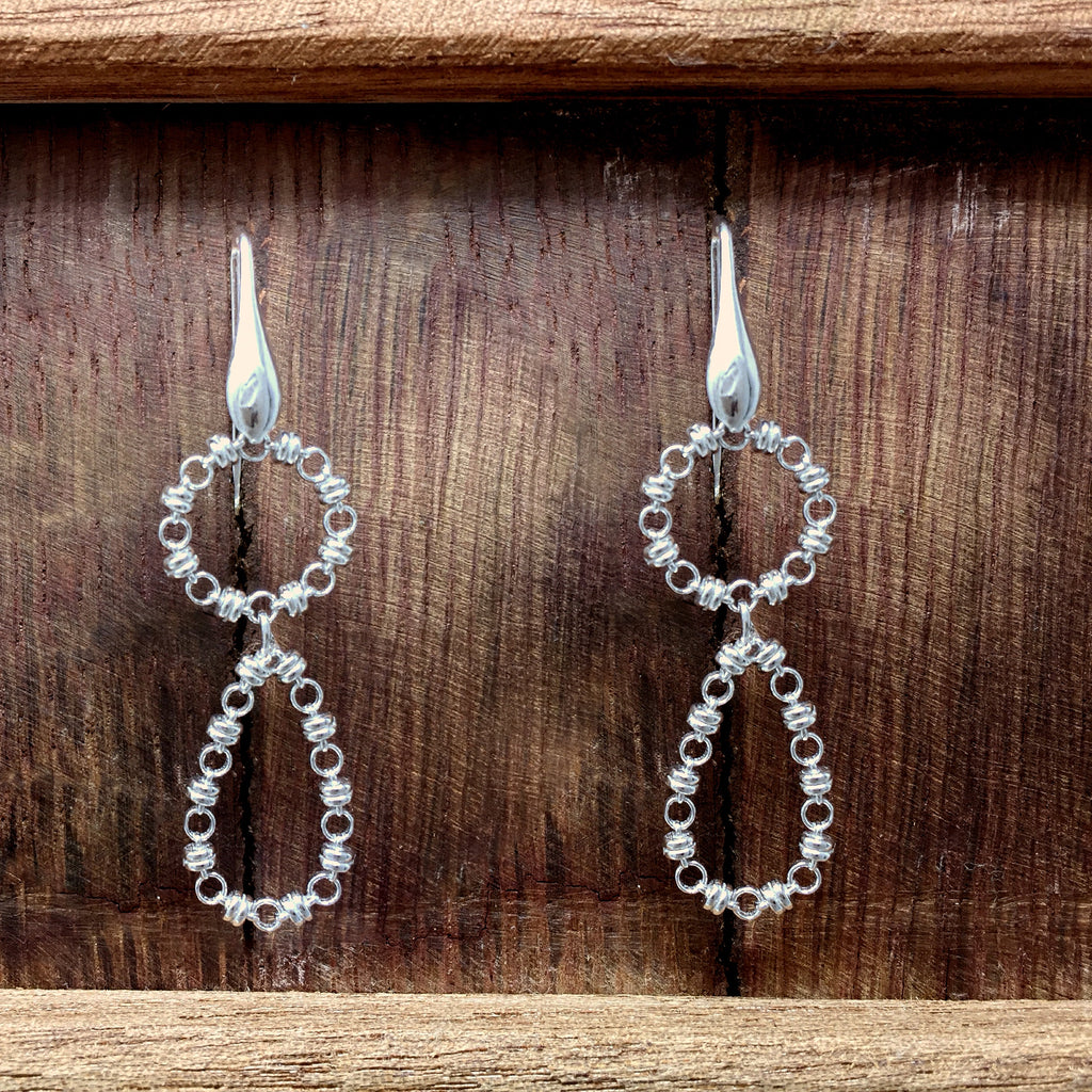 Botticelli Drops Earrings (Rhodium)