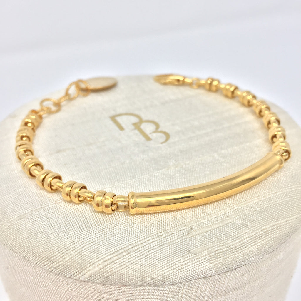Bracelet Bucatini 5mm (Smooth - Antique Gold)