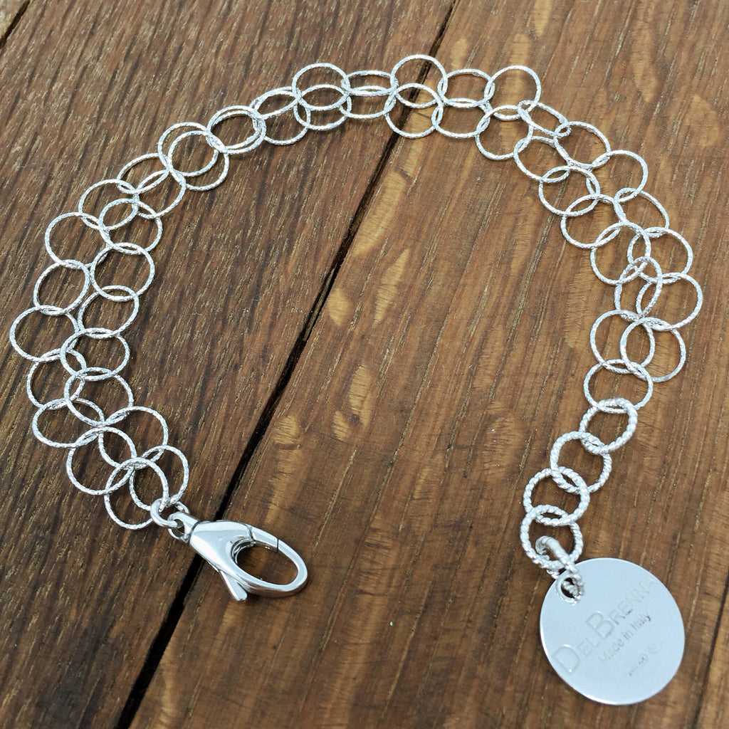 Double Giotto Bracelet (Rhodium)