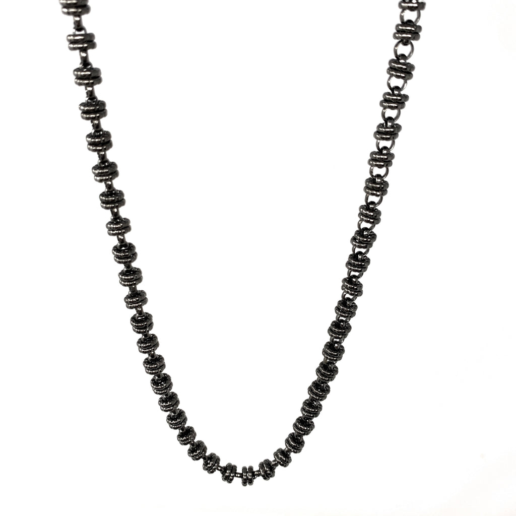 Necklace Etruscan Links 7mm B Black Rhodium
