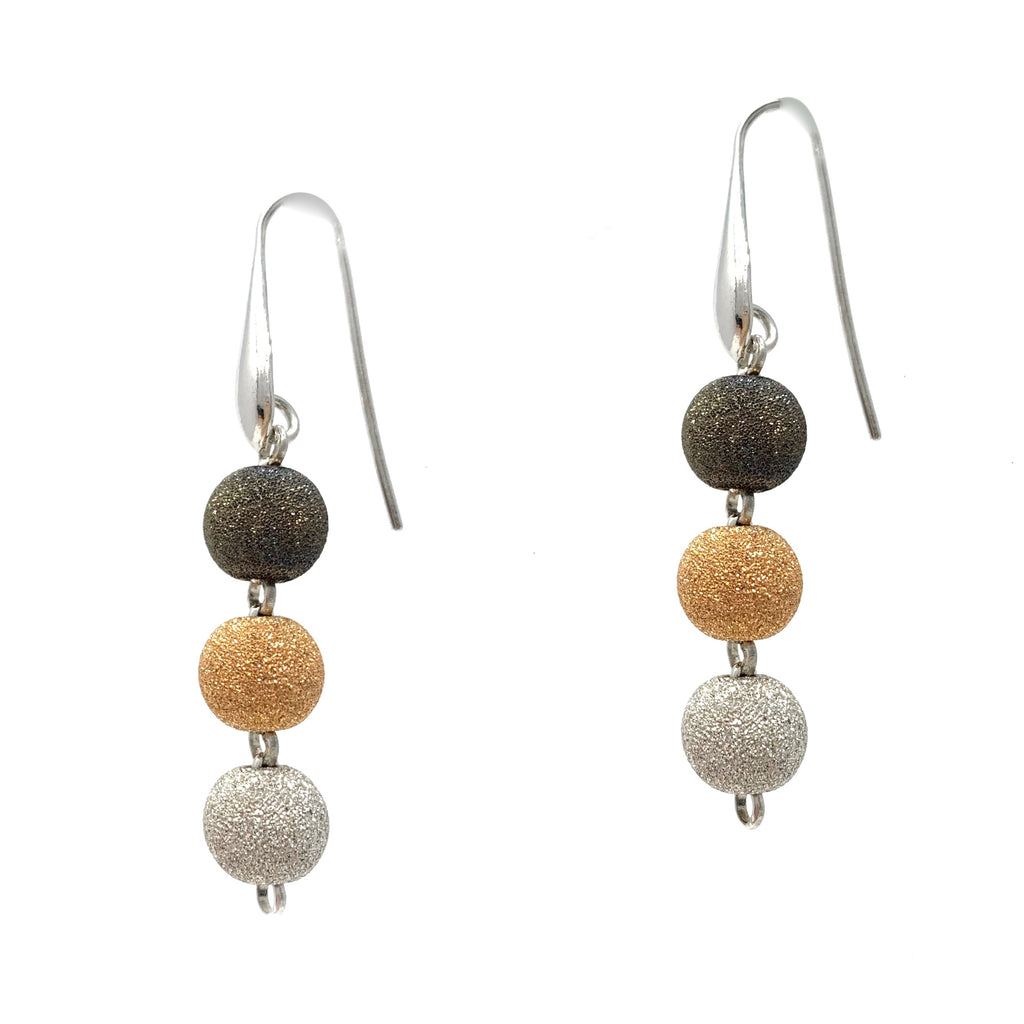 Earrings Puntinato 8mm x3 Tricolor