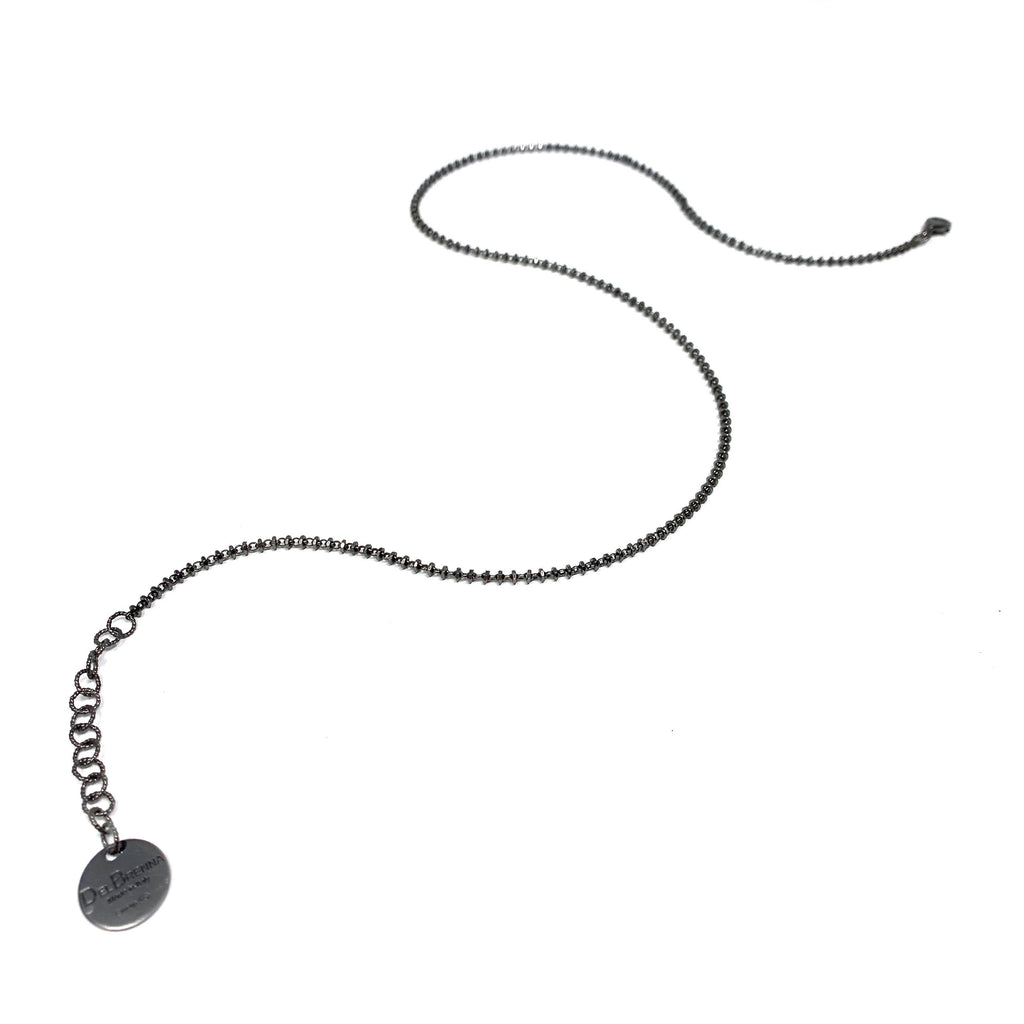 Necklace Luce 2mm B Ruthenium