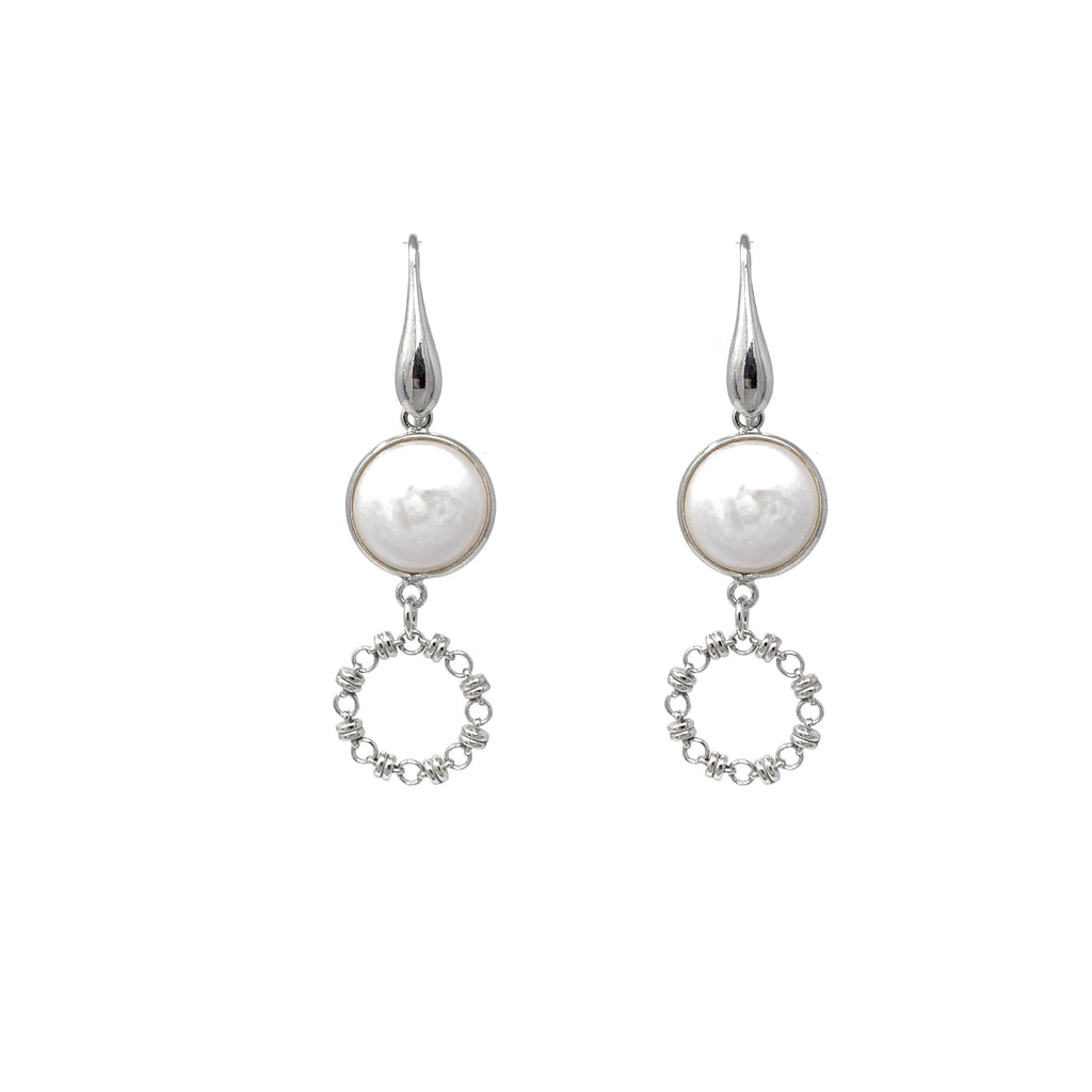 Earrings Botticelli x1 Baroque Pearls x1 Rhodium
