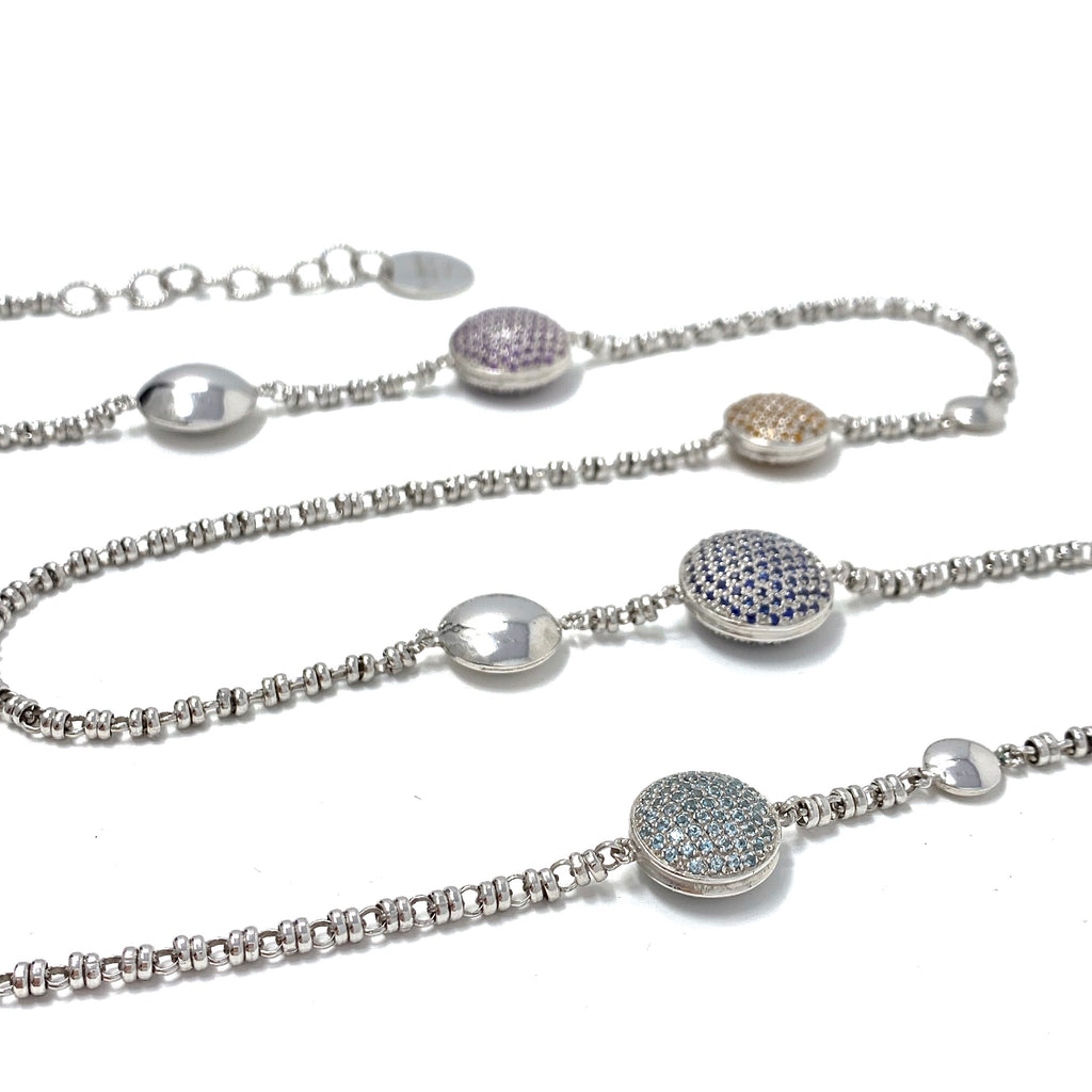 Luxe Pave Necklace 18K & Silver 925