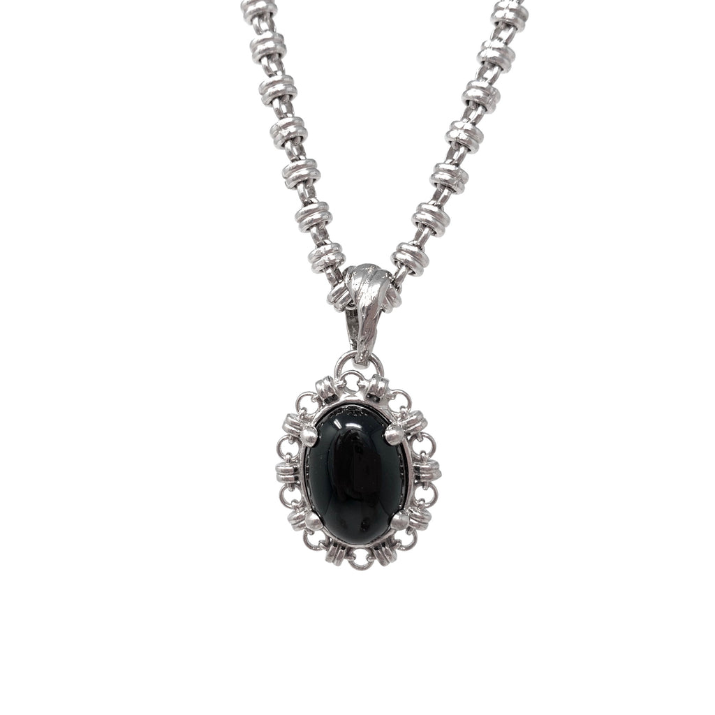 Aperitivo Pendant in Silver with Onyx