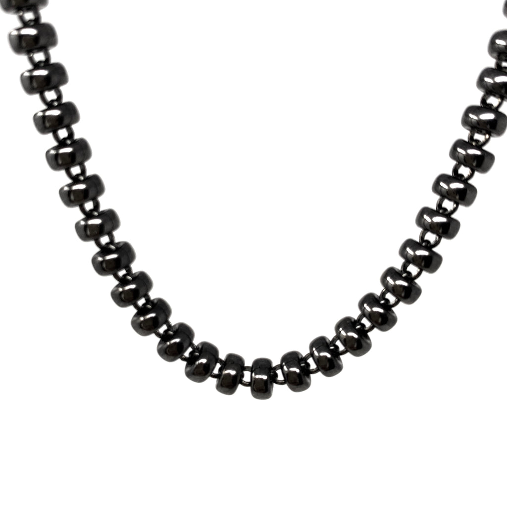 Necklace Ciambelle 5mm A Ruthenium