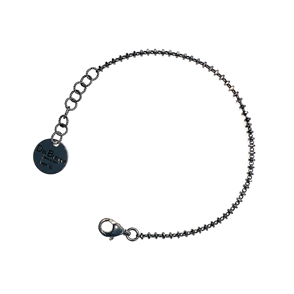 Bracelet Luce 2mm Black Rhodium