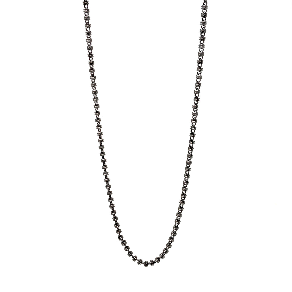 Necklace Links 3mm A Black Rhodium