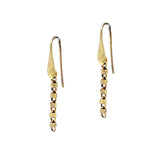 Earrings Cylinders 3mm x5 Antique Gold