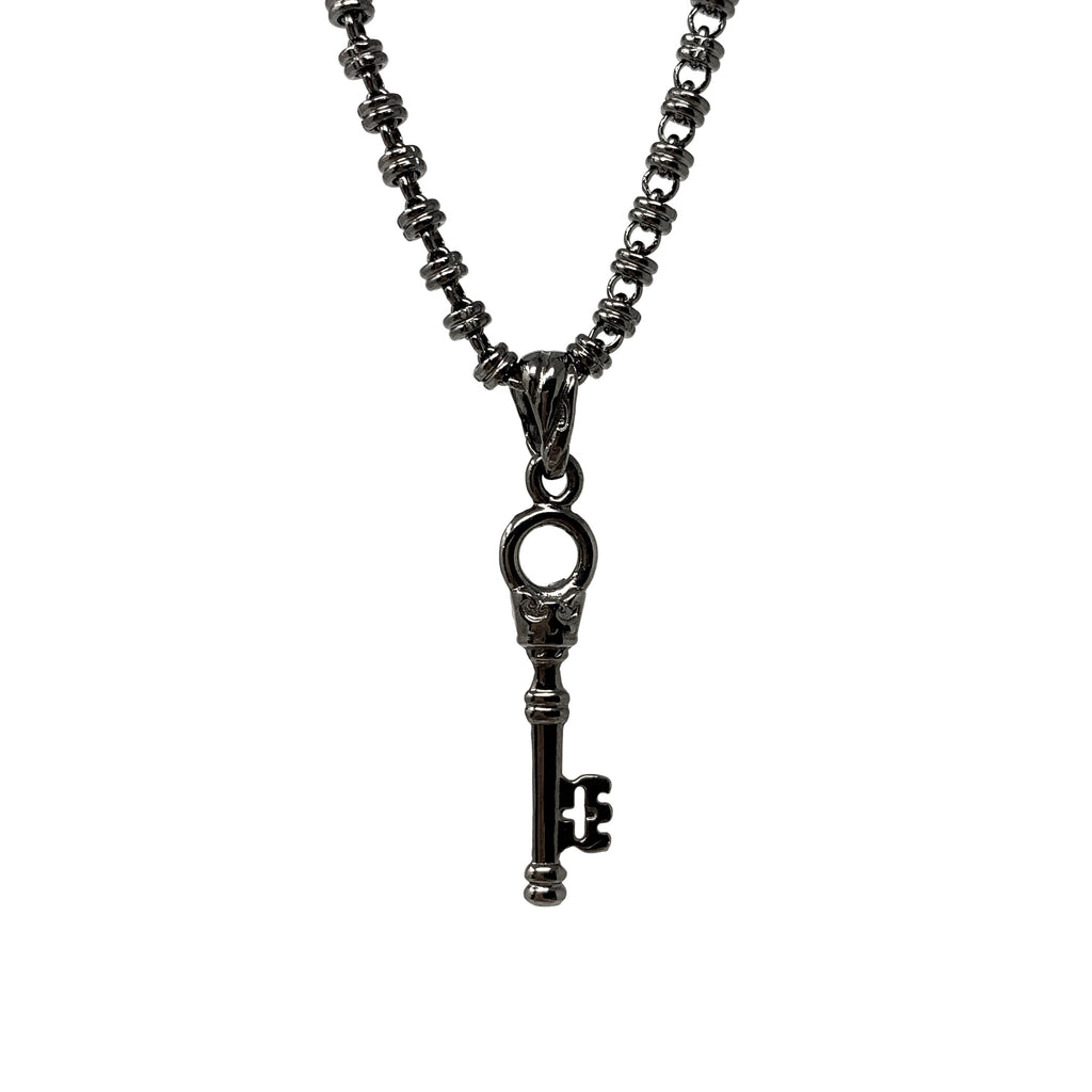 Pendant Invisible Crown Key Ruthenium