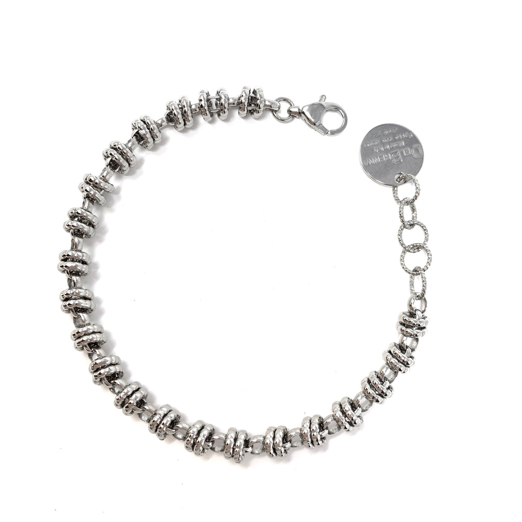 Bracelet Etruscan Links 7mm Rhodium