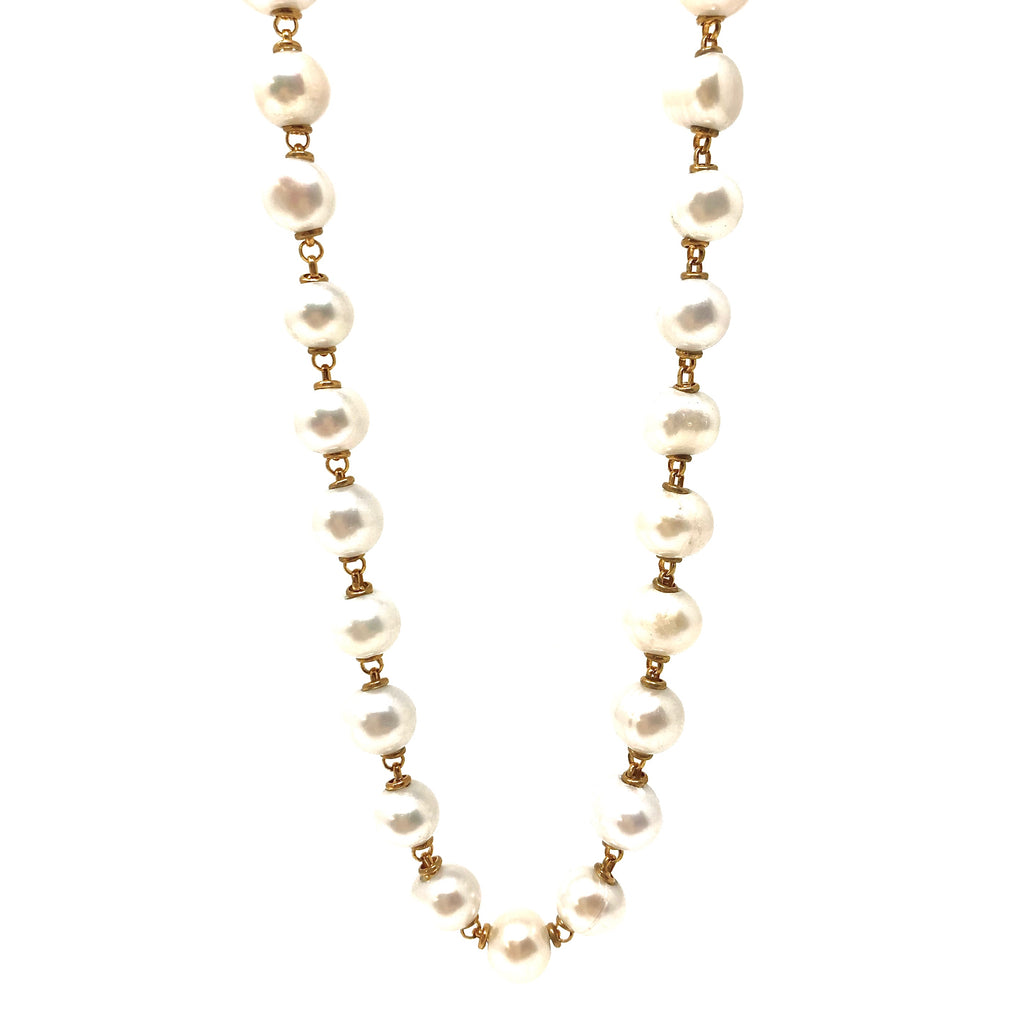 Necklace Freshwater Pearls C Gold