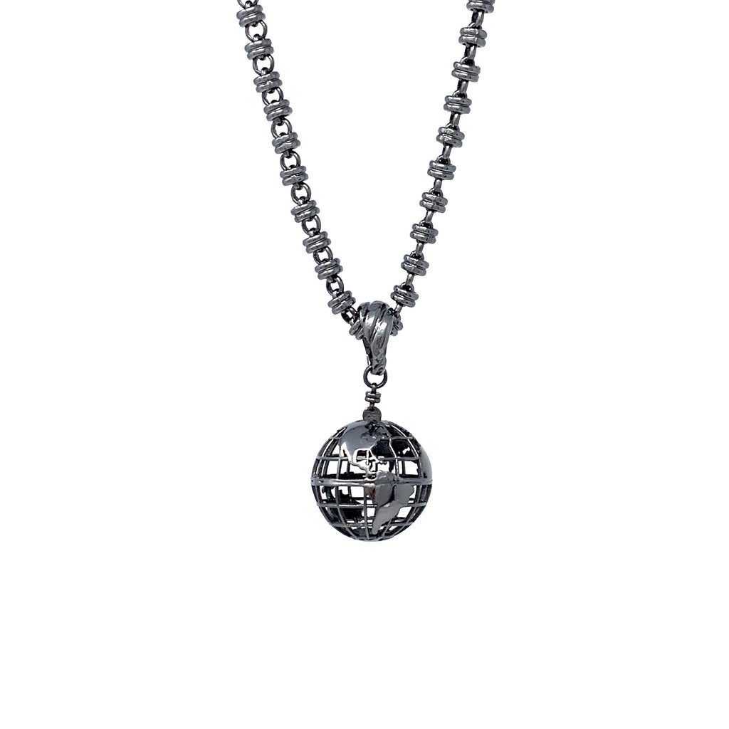 Pendant Globe Small Black Rhodium