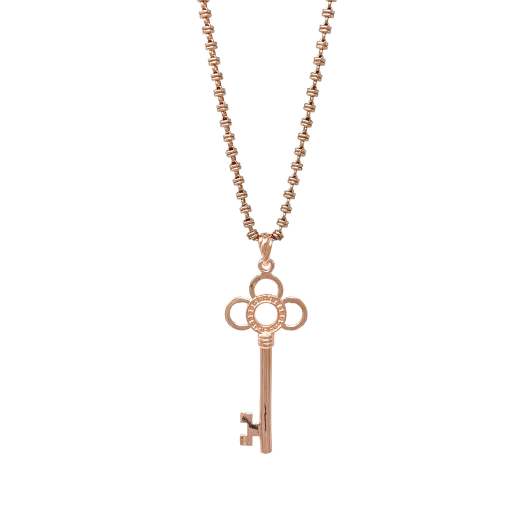 Pendant Flower Key Rose Gold