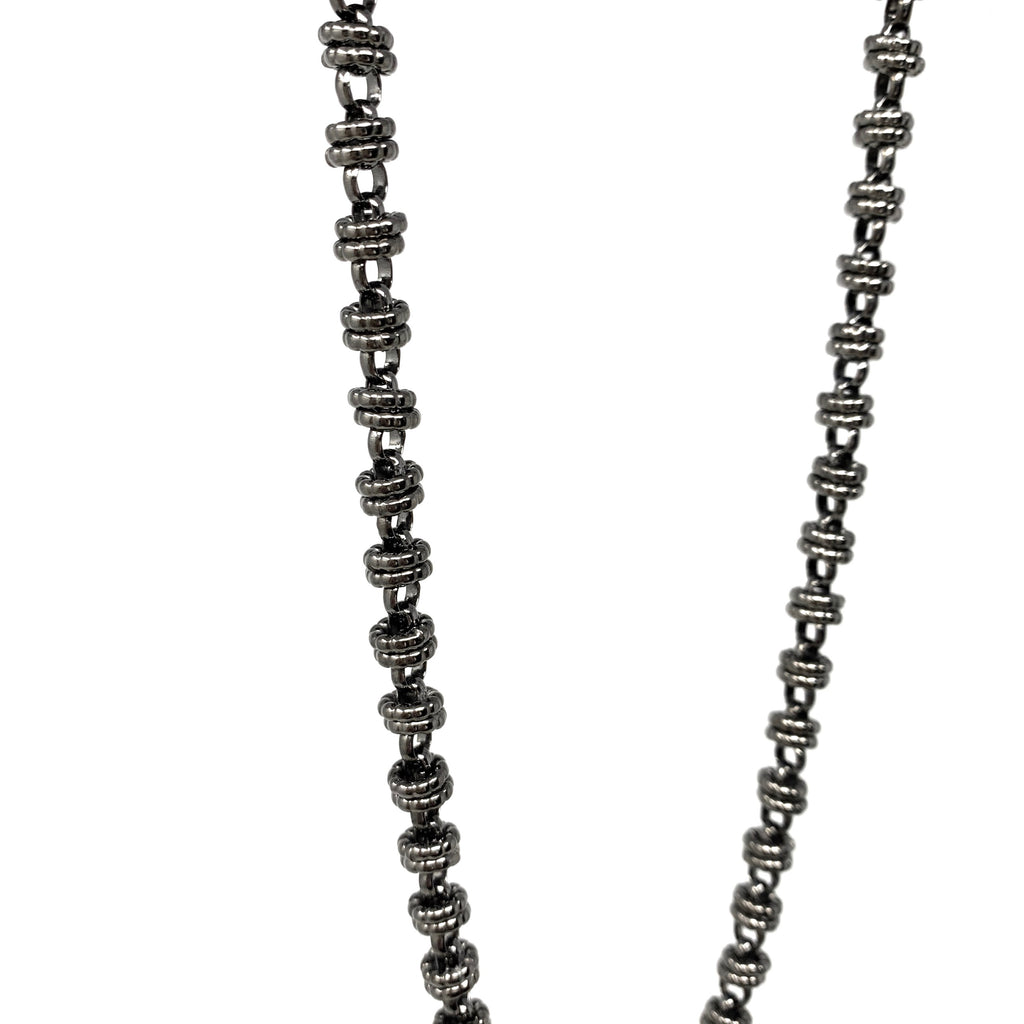 Etruscan Links Necklace in Black, 29""