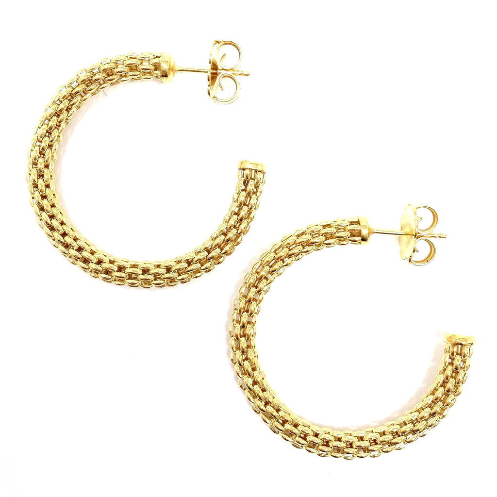 Empress Constantina Hoops Medium (Yellow Gold)