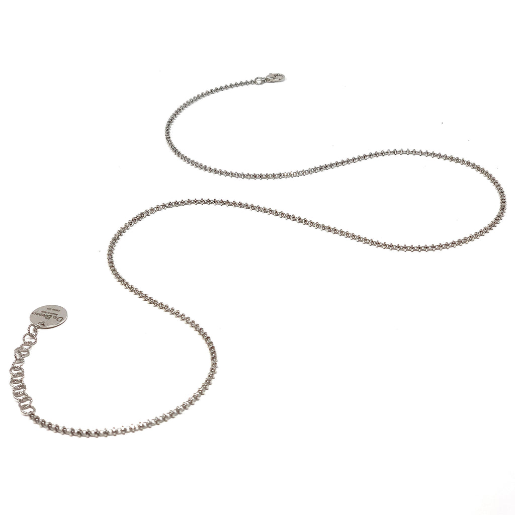 Necklace Luce 2mm C Rhodium