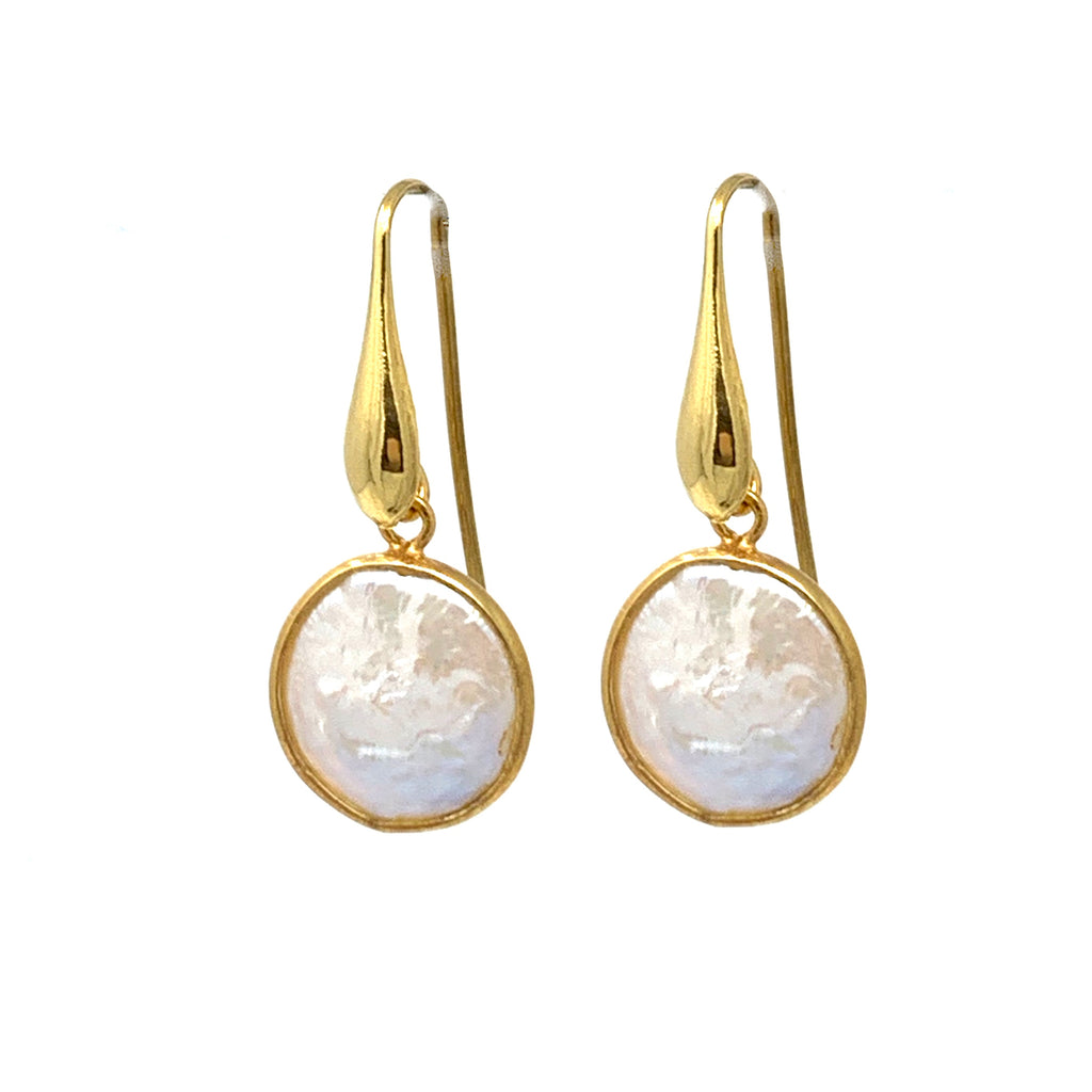 Earrings Dolce Vita Baroque Pearls Round Antique Gold