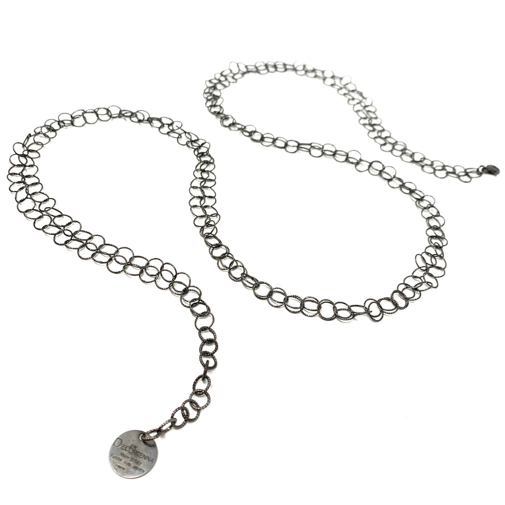 Necklace Giotto Double D Ruthenium
