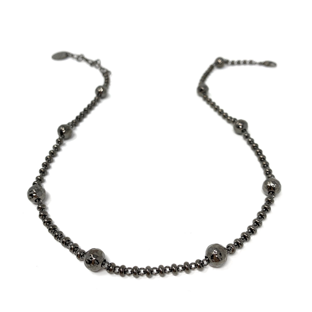 Necklace Bubbles A-B Black Rhodium