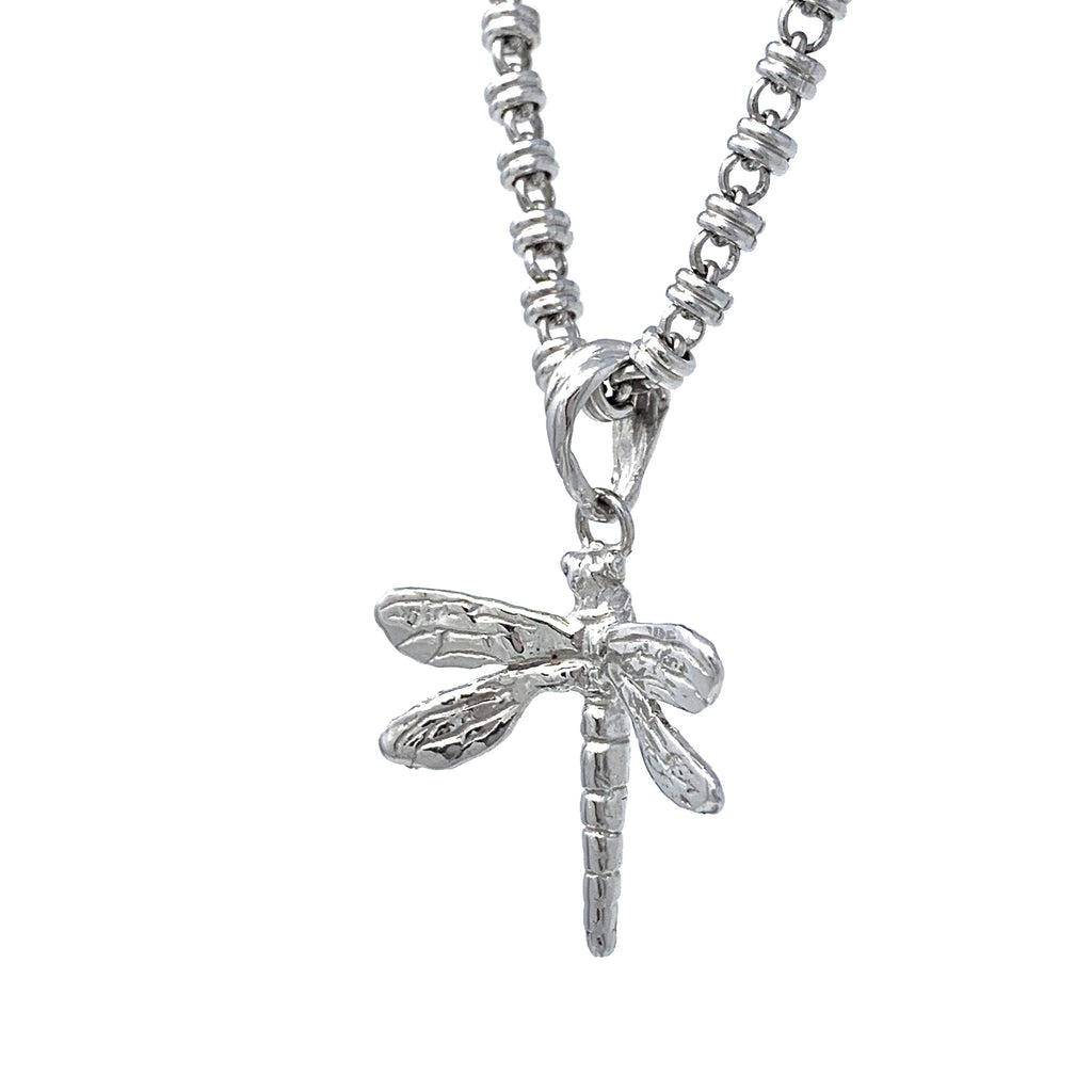 Pendant Dragonfly Small Rhodium