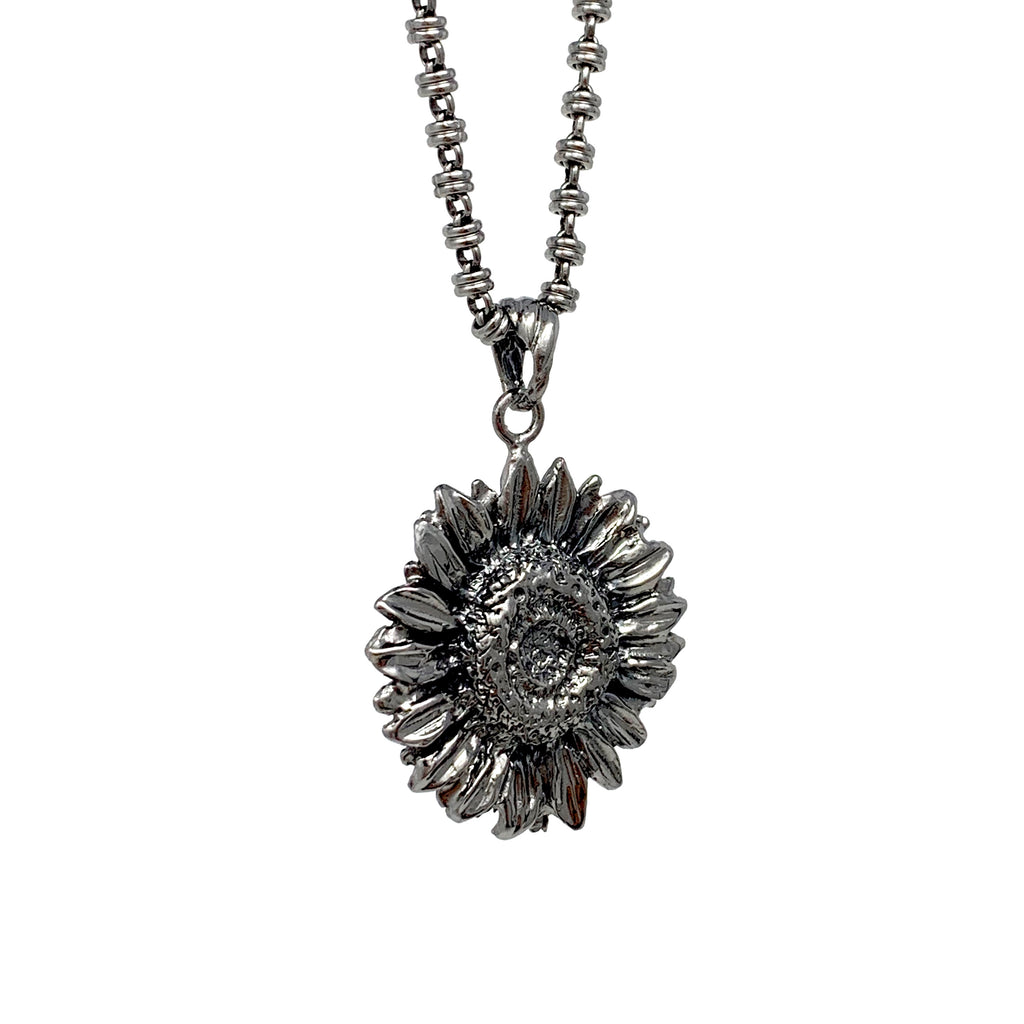 Pendant Sunflower Black Rhodium