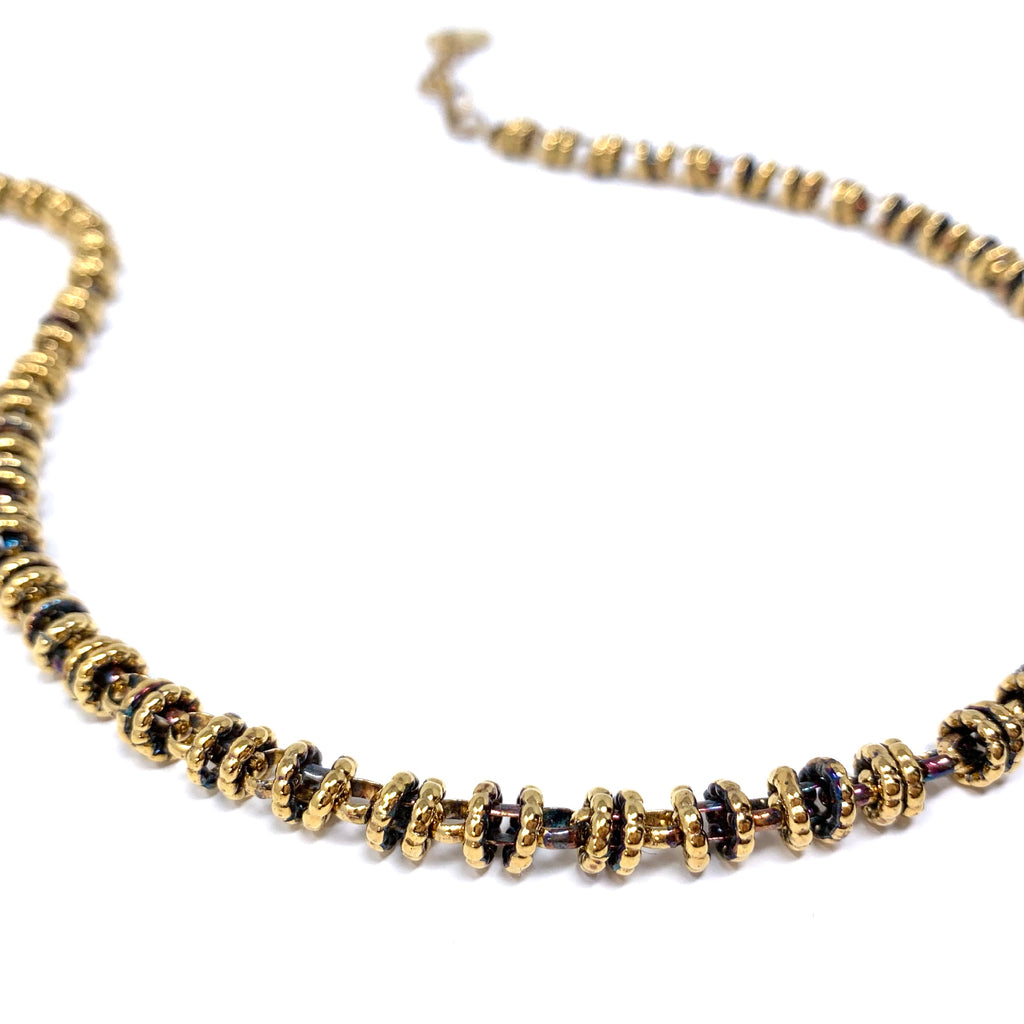 Necklace Etruscan Links 7mm A Antique Gold
