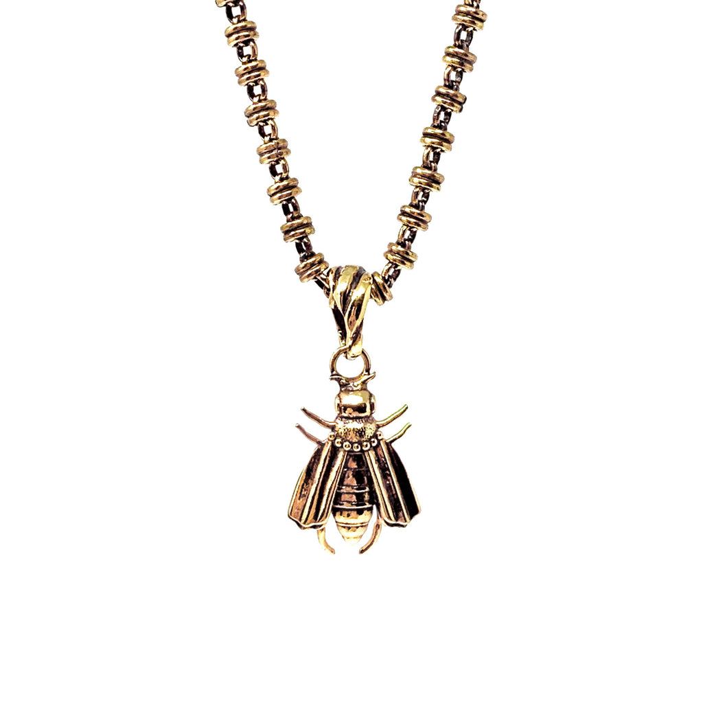 Pendant Bee Antique Gold