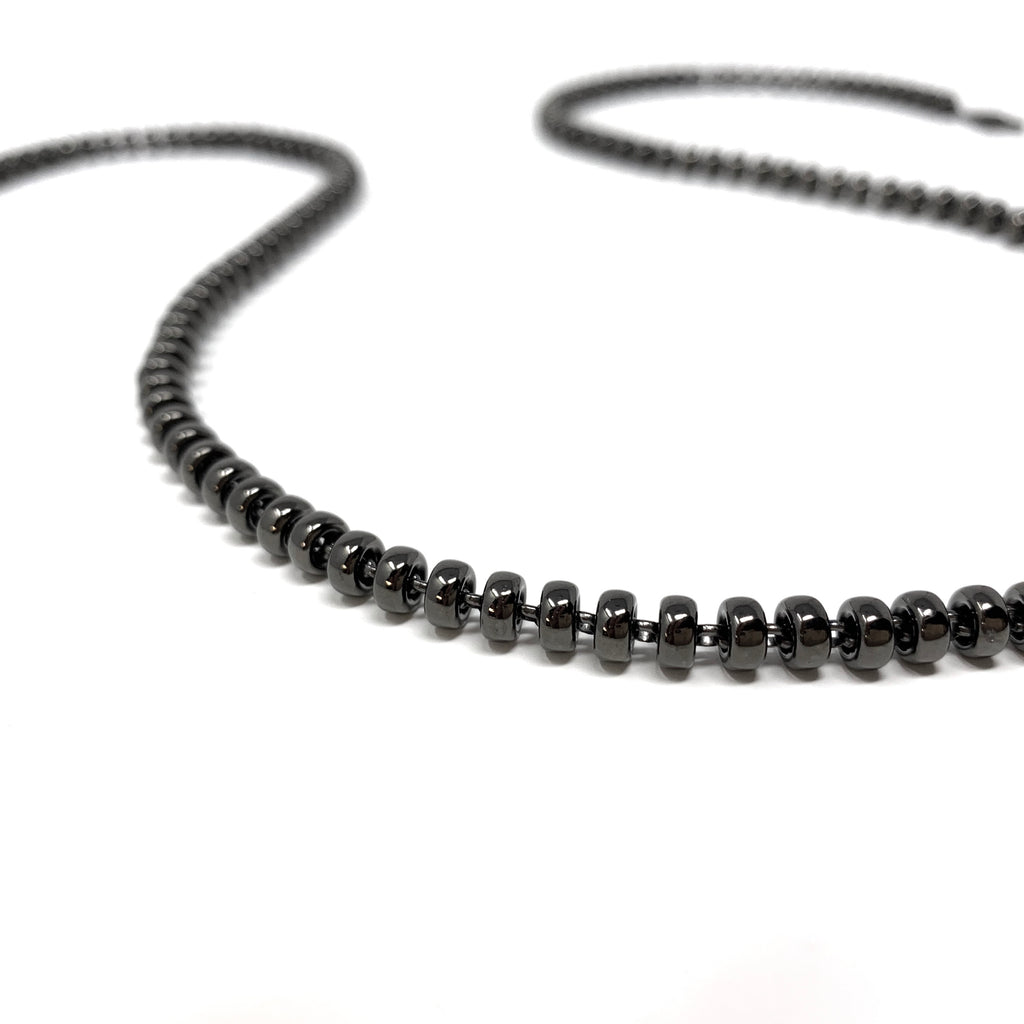 Necklace Ciambelle 5mm C Ruthenium