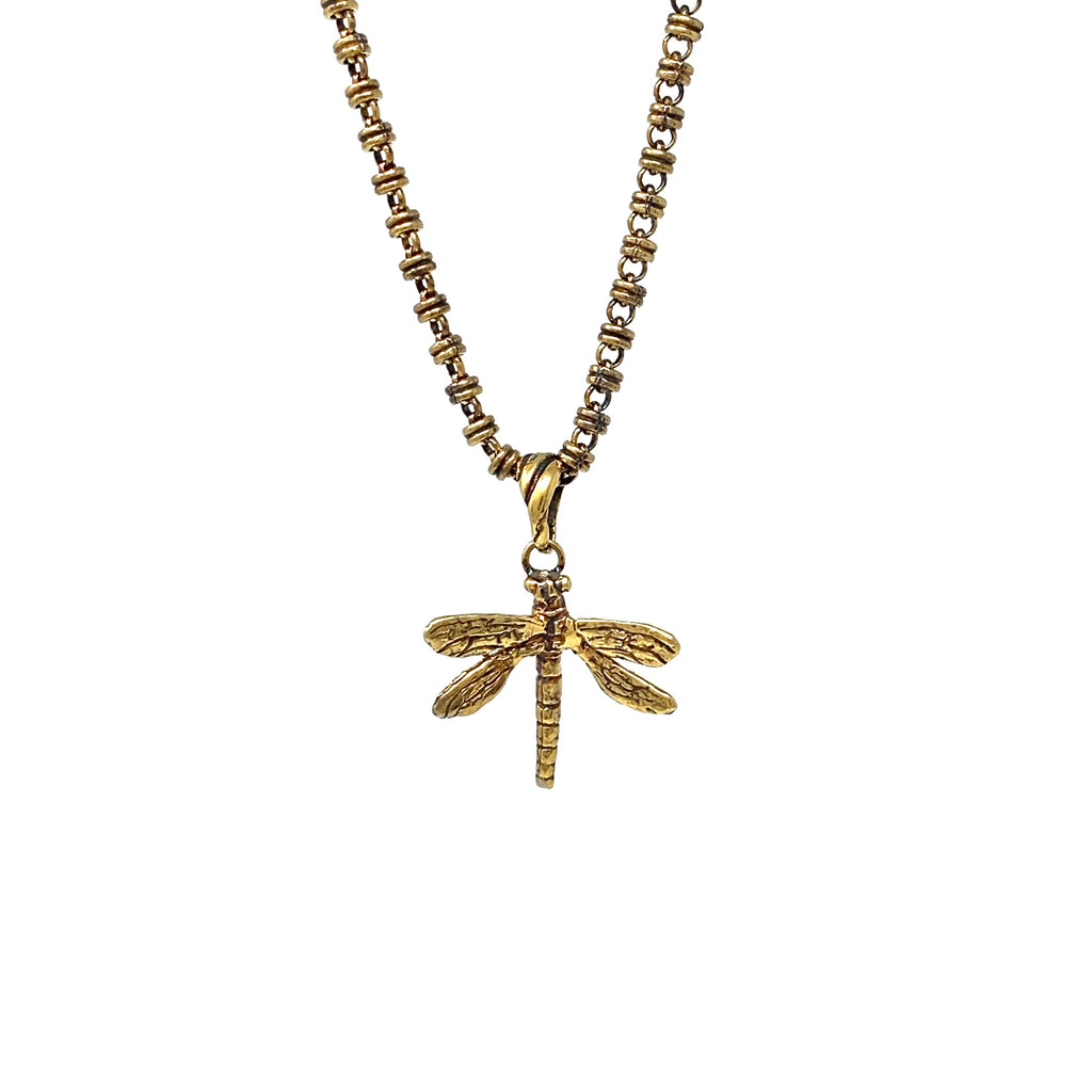Pendant Dragonfly Small Antique Gold