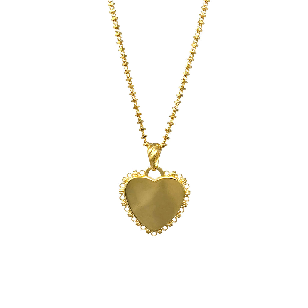 Pendant DelBrenna Heart Antique Gold