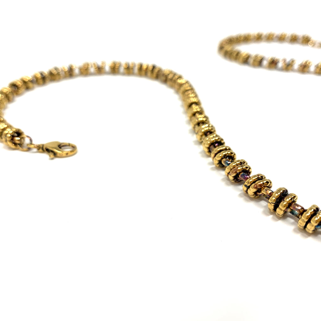 Necklace Etruscan Links 7mm C Antique Gold