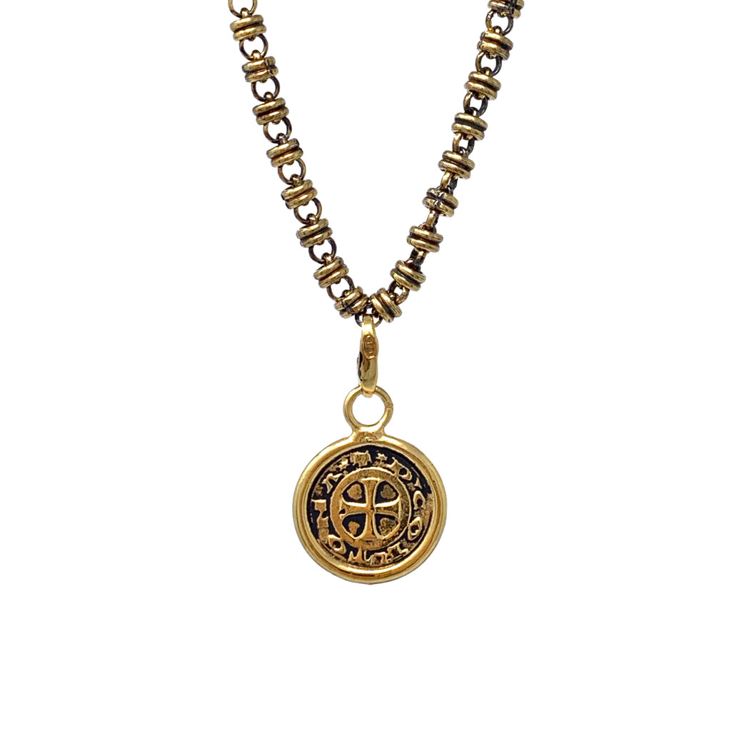 Cortona Coin Charm (Antique Gold)