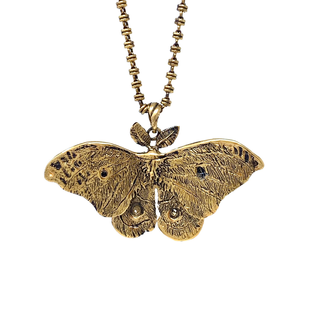 Pendant Night Butterfly Antique Gold