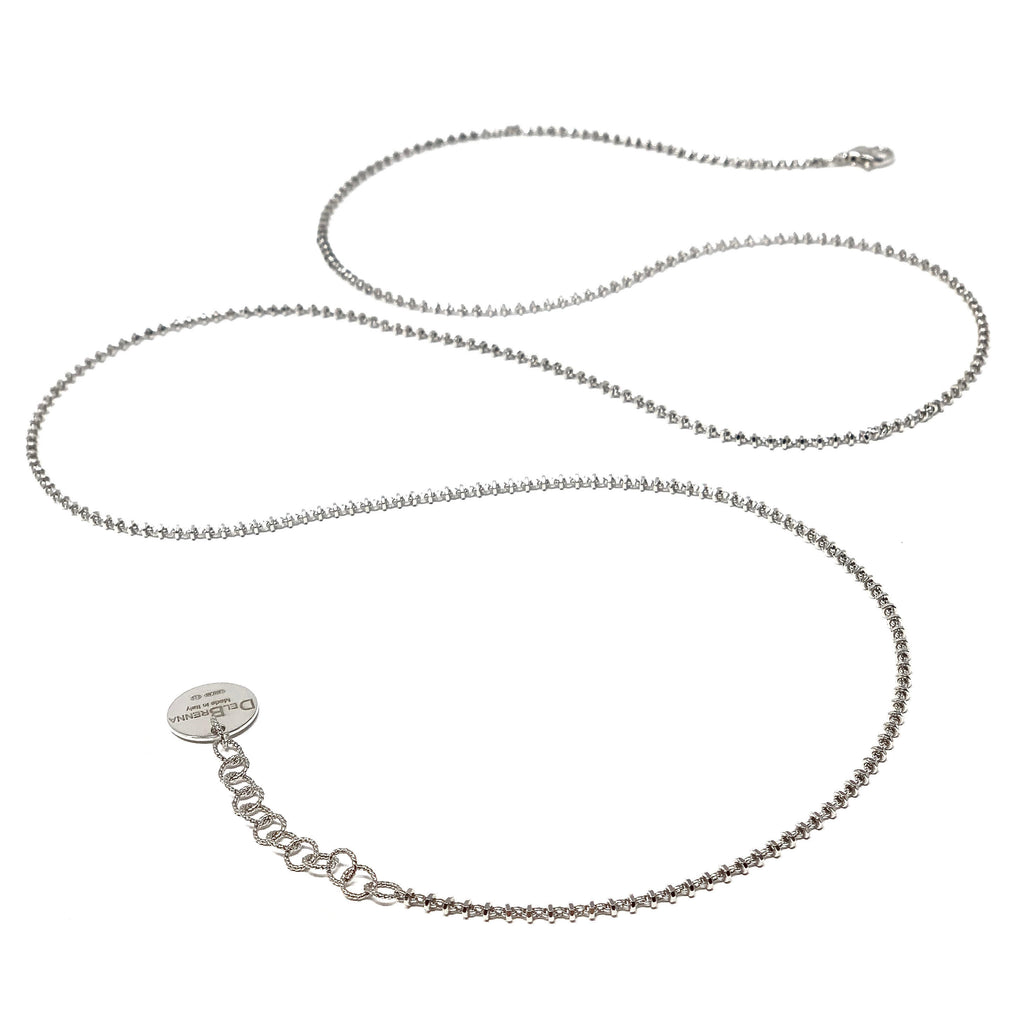 Necklace Luce 2mm D Rhodium