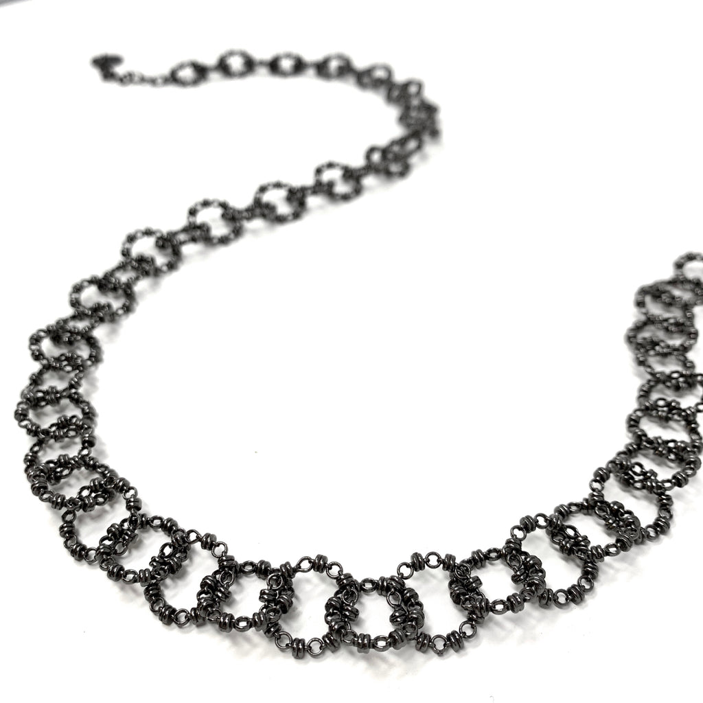 Necklace Signorelli C Black Rhodium