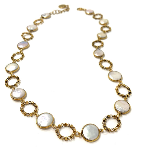 Necklace Botticelli x12 Baroque Pearls x13 B Antique Gold