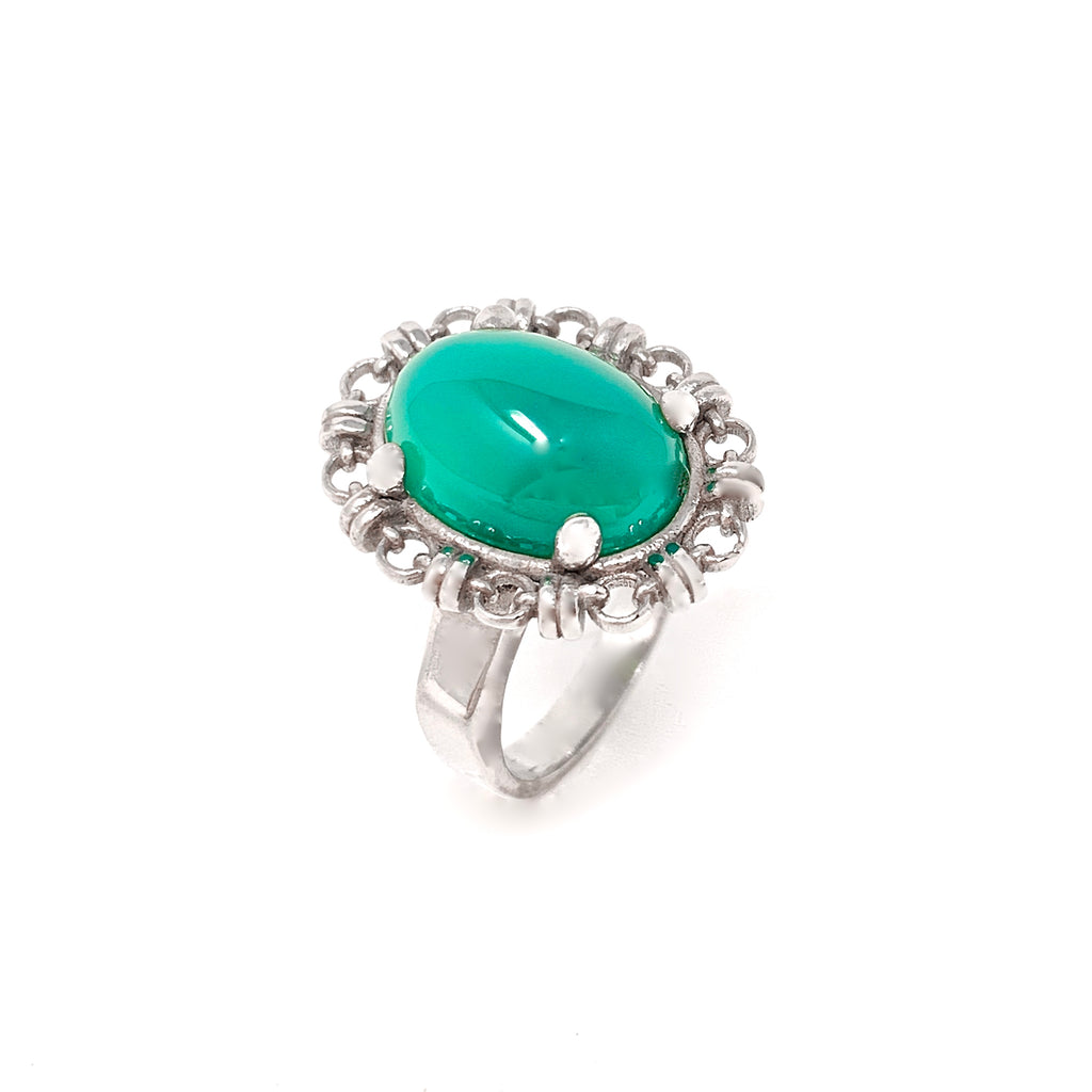 Aperitivo Ring in Silver with Jade