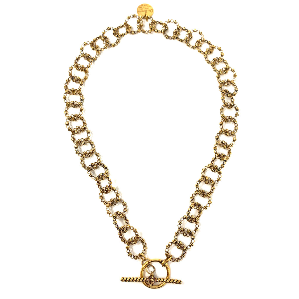 Necklace Signorelli T-Bar Antique Gold