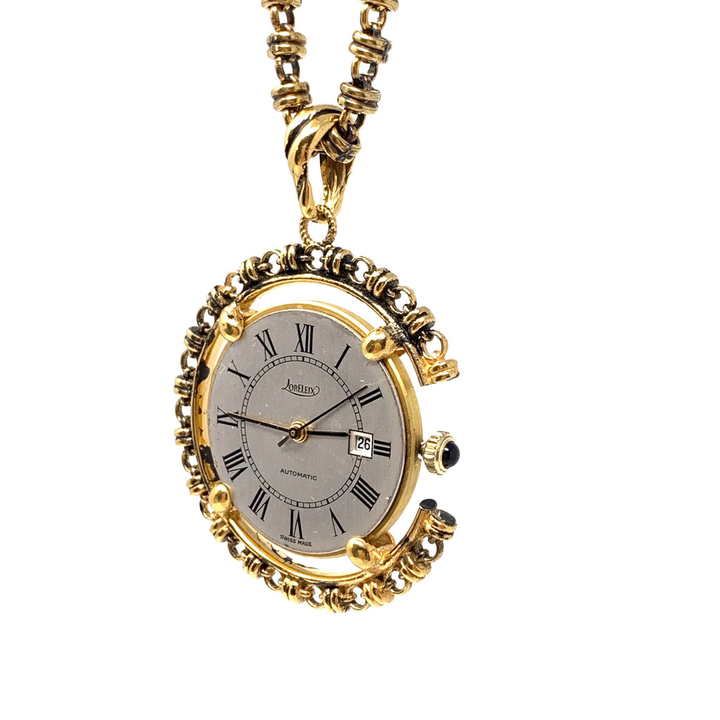 Pendant Filary Watch Large Antique Gold