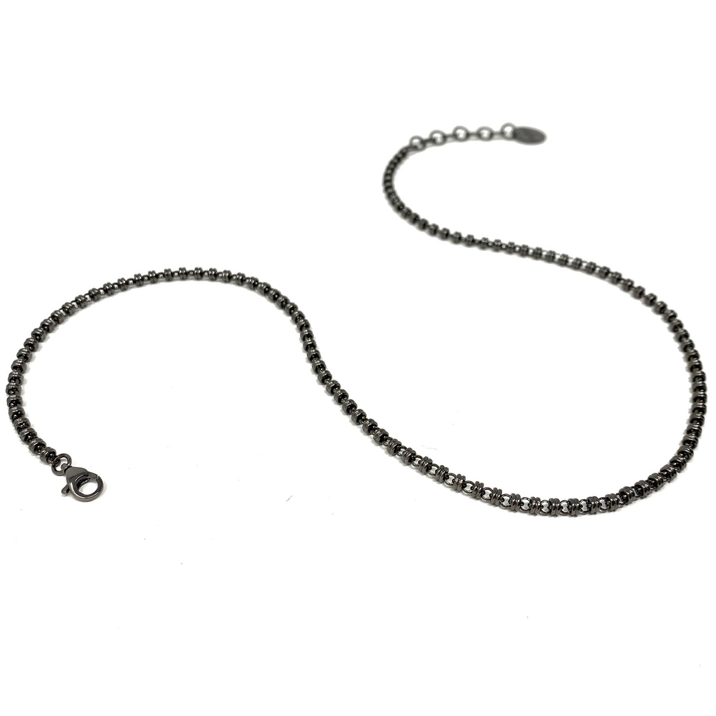 Necklace Links 3mm B Ruthenium