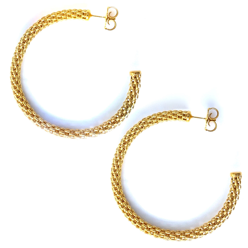 Large Constantina Hoop Earrings in Gold